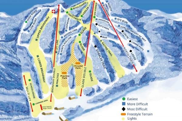 2018-19 Ski Blandford Trail Map