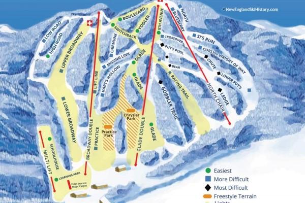 2019-20 Ski Blandford Trail Map