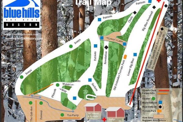 2020-21 Blue Hills Trail Map