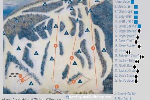 2017-18 Bousquet Trail Map