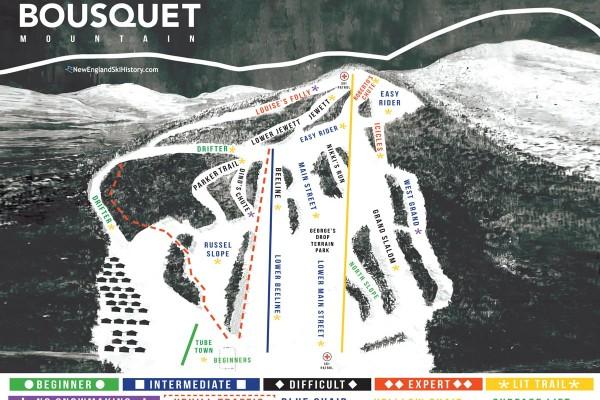 2020-21 Bousquet Trail Map