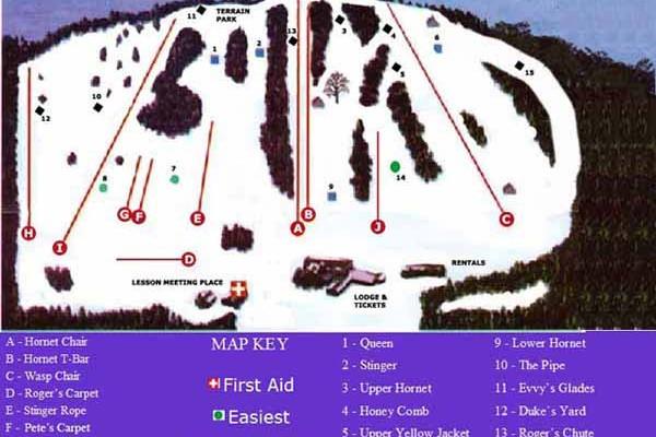 2017-18 Ski Bradford Trail Map