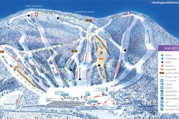 2017-18 Ski Butternut Trail Map
