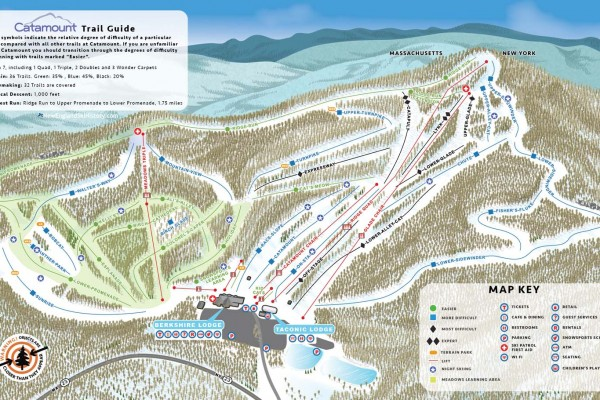 2017-18 Catamount Trail Map