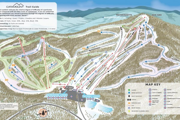 2018-19 Catamount Trail Map