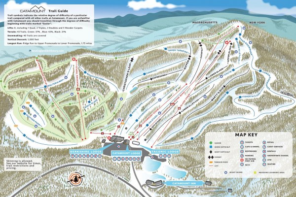 2019-20 Catamount Trail Map