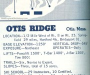 1964-65 Otis Ridge Trail Map