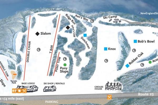 2018-19 Otis Ridge Trail Map
