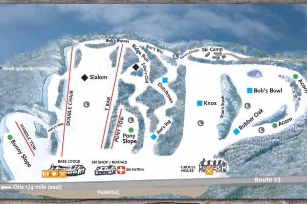 2019-20 Otis Ridge Trail Map