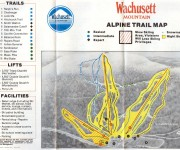 Circa 1985 Wachusett Trail Map