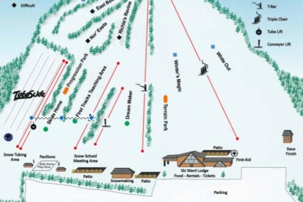 2017-18 Ski Ward Trail Map