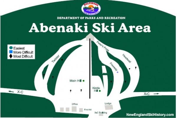 2016-17 Abenaki Trail Map