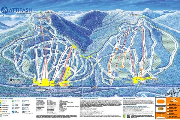 2020-21 Attitash Trail Map
