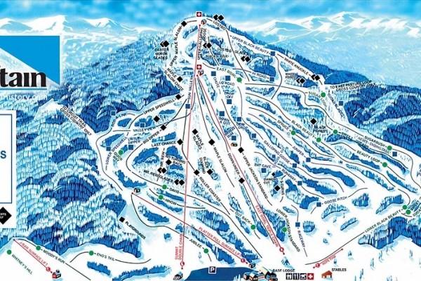 2020-21 Black Mountain Trail Map