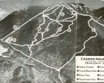 1940s Cannon Mountain Trail Map