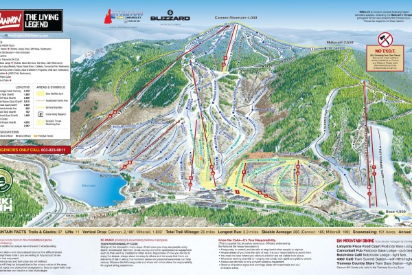 2017-18 Cannon Trail Map