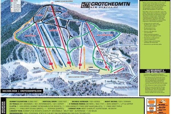 2020-21 Crotched Mountain Trail Map