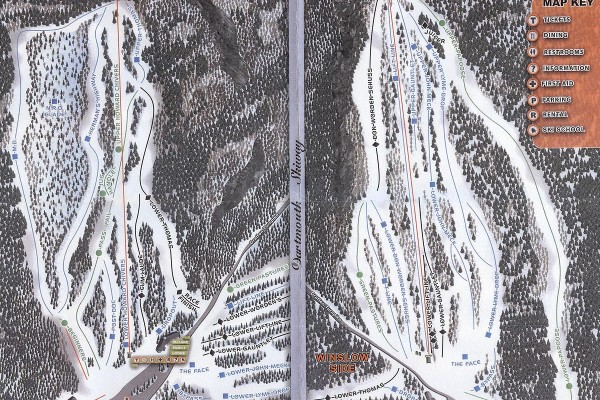 2018-19 Dartmouth Skiway Trail Map