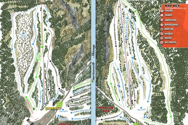 2020-21 Dartmouth Skiway Trail Map