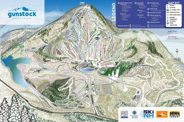 2019-20 Gunstock Trail Map