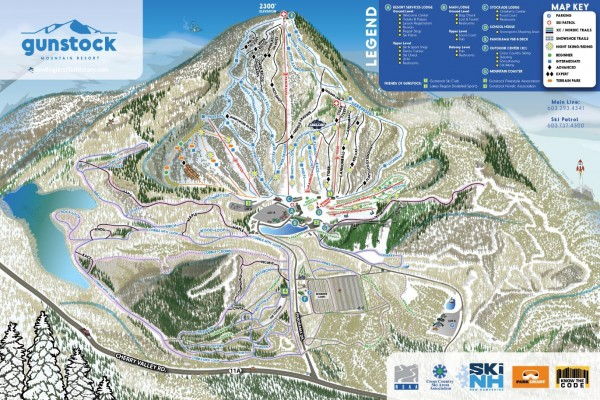 2020-21 Gunstock Trail Map