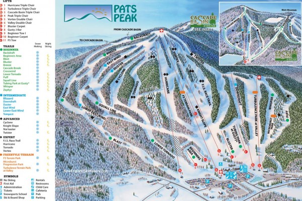 2019-20 Pats Peak Trail Map