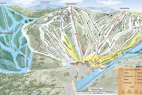 2018-19 Ragged Mountain Trail Map