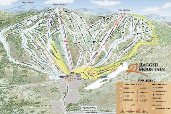 2020-21 Ragged Mountain Trail Map