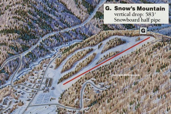 1990-91 Snow's Mountain Trail Map