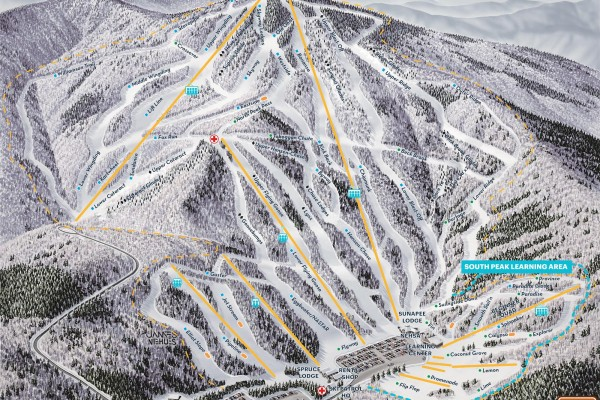 2020-21 Mt. Sunapee Trail Map