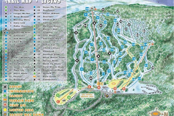 2018-19 Tenney Mountain Trail Map