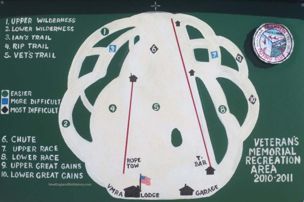 2010-11 Franklin Veterans Memorial Ski Area Trail Map