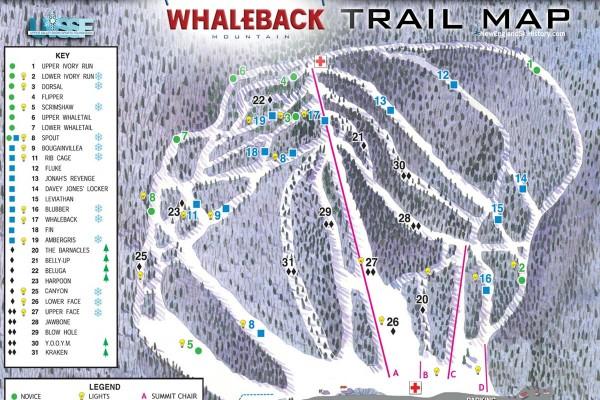 2018-19 Whaleback Trail Map