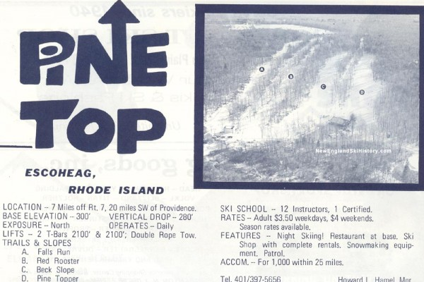 1970-71 Pine Top Trail Map