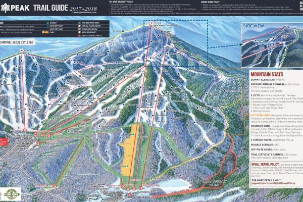 2017-18 Jay Peak Trail Map