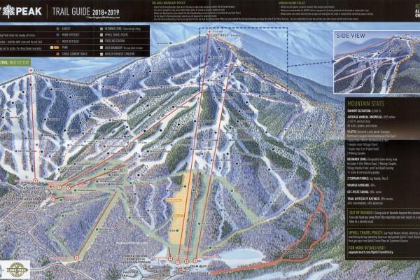 2018-19 Jay Peak Trail Map