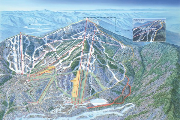 2019-20 Jay Peak Trail Map