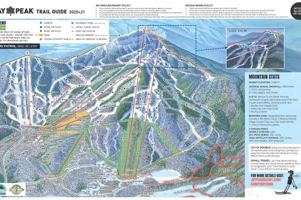 2020-21 Jay Peak Trail Map