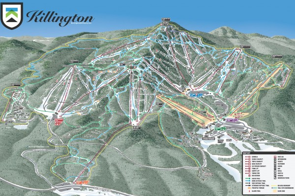 2018-19 Killington Trail Map