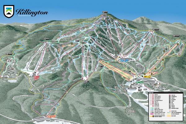2019-20 Killington Trail Map