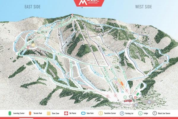 2019-20 Magic Mountain Trail Map