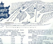 1964-65 Maple Valley Ski Area Trail Map