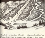 1962-63 Middlebury College Snow Bowl trail map
