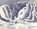 1968-69 Middlebury College Snow Bowl Trail Map
