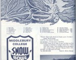 1970-71 Middlebury College Snow Bowl trail map