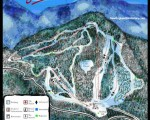 2013-14 Middlebury College Snow Bowl trail map