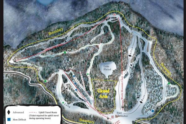 2017-18 Middlebury Snow Bowl Trail Map