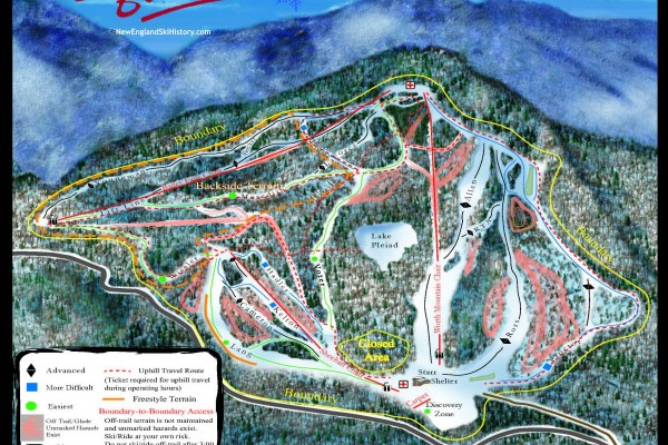 2020-21 Middlebury College Snow Bowl Trail Map