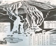 1963-64 Mount Snow Trail Map