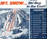 1967-68 Mount Snow Trail Map